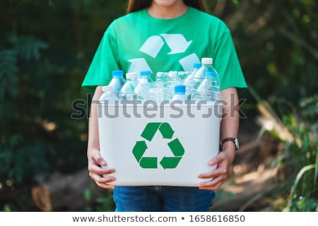 Plastic recycle bin outdoor for waste Stock photo © smuay