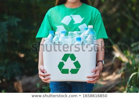 Plastica riciclare outdoor rifiuti blu Foto d'archivio © smuay