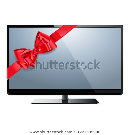 Vector Television with Red Bow Stock photo © dashadima