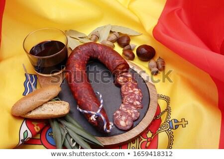 クローズアップ フラグ スペイン 暗い フラグ 赤 ストックフォト © nito