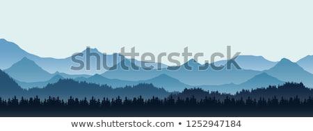 Inverno paisagem montanha alcance blue sky belo Foto stock © Kotenko