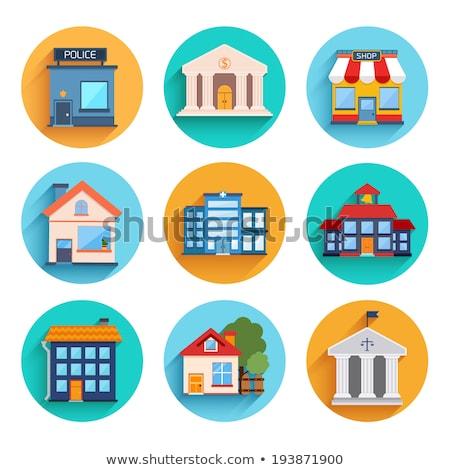 Mobile banking - flat design style colorful illustration Stock photo © Decorwithme