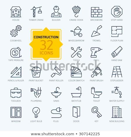 tijolos · conjunto · ícones · preto · silhuetas - foto stock © kup1984