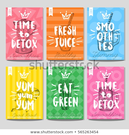 Vector color menu design Stock photo © netkov1