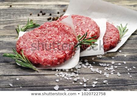 ruw · hamburger · vers · hamburger · rundvlees - stockfoto © tycoon