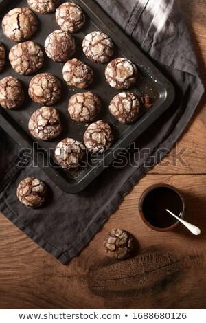 Hausgemachte Butter Cookies süß Glas Brot Stock foto © YuliyaGontar
