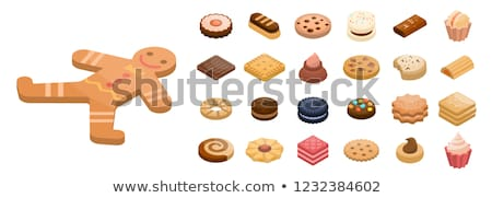 Gingerbread Cookie 3D Isometric Isolated Icon Stock photo © robuart