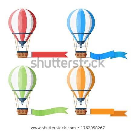 vector aerostat hot balloon stock photo © vetrakori