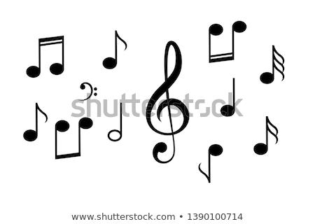 Muziek nota grafisch ontwerp sjabloon vector geïsoleerd Stockfoto © haris99