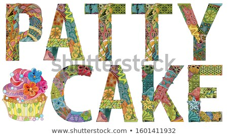 Words PATTY CAKE. Vector zentangle object for decoration Stock photo © Natalia_1947