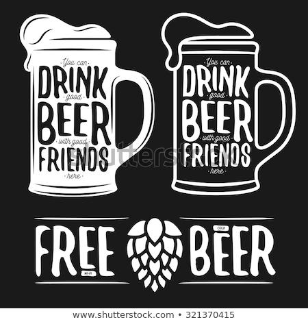 Içme kupa bira komik karikatür Stok fotoğraf © rogistok