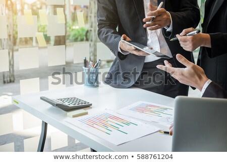 Trabajo en equipo proceso negocios asesor financieros progreso Foto stock © Freedomz