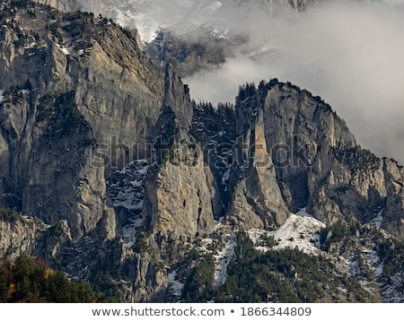 Rock wall in the Alps Stock photo © lichtmeister