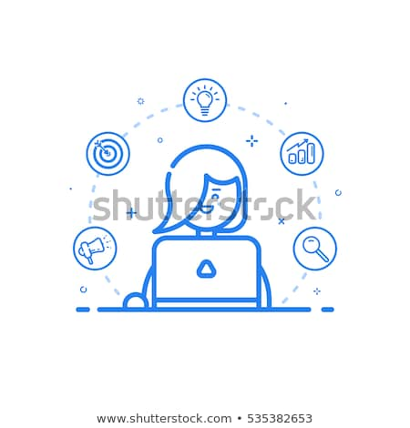 Money Report on Computer Icon Vector Outline Illustration Stock photo © pikepicture