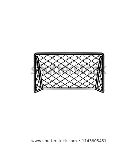 football · objectif · porte · icône · illustration - photo stock © pikepicture