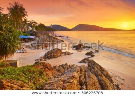 Spiaggia phuket tradizionale lungo coda barca Foto d'archivio © bloodua