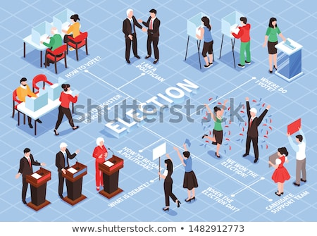 Election isometric icon vector illustration Stock photo © pikepicture
