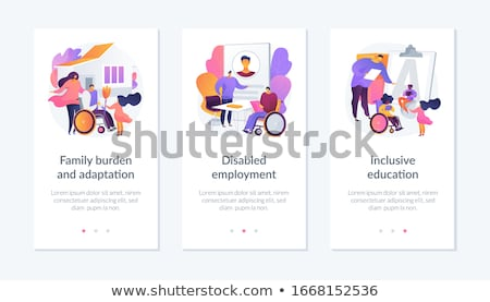 Social support for people in need app interface template. Stock photo © RAStudio
