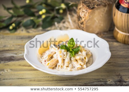 Stock photo: pasta on white close up