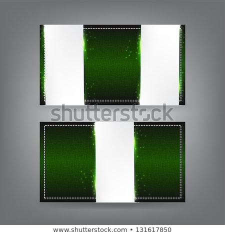 Włókienniczych wizytówkę szablon projektu ramki Zdjęcia stock © maxmitzu