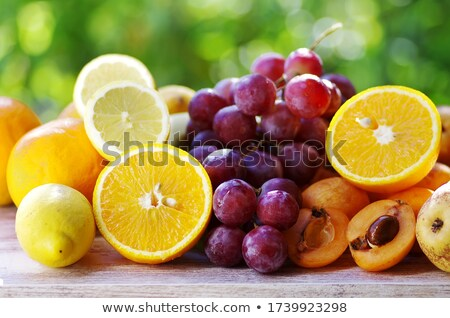ripe loquats and fruits on table stock photo © inaquim
