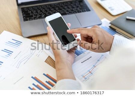 ビジネスマン · デスク · 作業 · ノートパソコン · 肖像 · 銀行 - ストックフォト © photography33