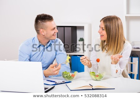 Businesswoman having healthy discussion Stock photo © get4net
