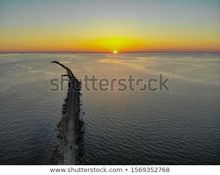 Pôr do sol montanhas paisagem céu verão Foto stock © Leonidtit