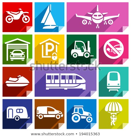 Transport flat icon, bright color-08 Stock photo © Ecelop