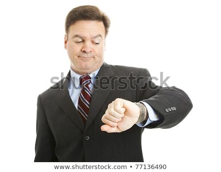 empresarial · empresario · espera · tiempo · sesión · sala · de · espera - foto stock © stockyimages