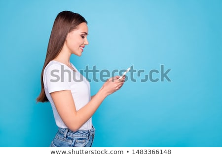 young fashion woman looking to her side stock photo © feedough