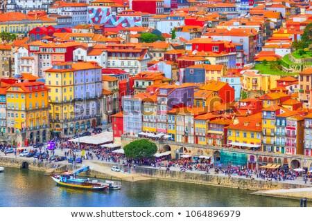 oude · stad · Portugal · boven · traditioneel · huizen - stockfoto © joyr