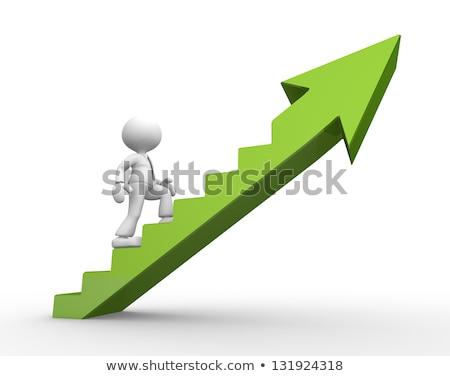 3d human arrow success green high business Stock photo © dariusl