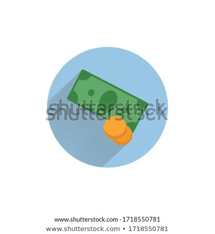 making money icon business concept flat design long shadow stock photo © wad