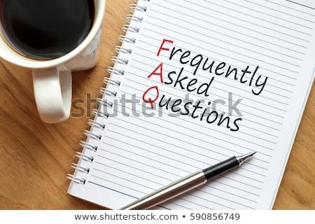 よくある質問 言葉 ターゲット 真ん中 背景 にログイン ストックフォト © fuzzbones0