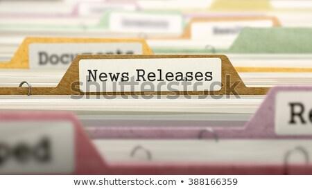 file folder labeled as news releases stock photo © tashatuvango