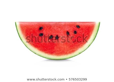 édes · görögdinnye · szeletek · felszolgált · nyár · desszert - stock fotó © stevanovicigor