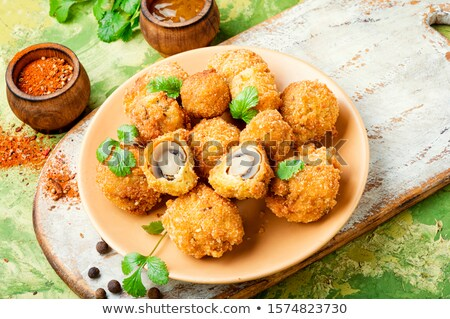 fried mushrooms stock photo © tycoon