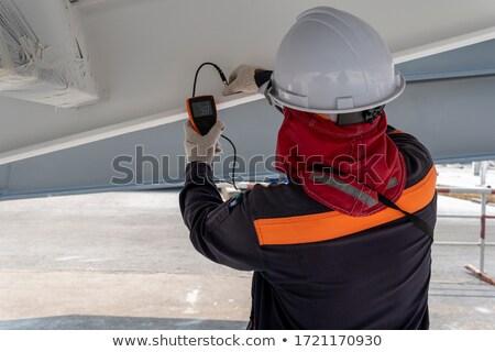 man inspecting paintings Stock photo © IS2