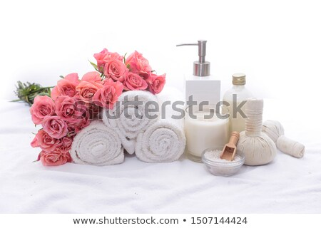 Rózsaszín fürdő egészségügy fehér űr szöveg Stock fotó © Lana_M