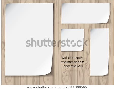 Vector sheet of white paper on a wooden background Stock photo © orson