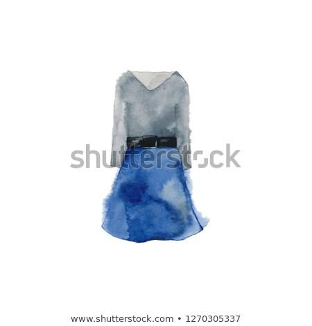 blue one piece old women_beauty Stock photo © toyotoyo