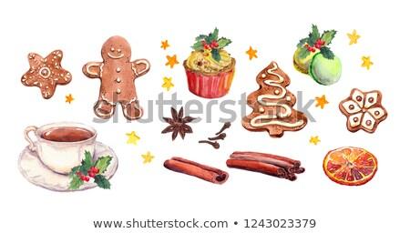 mézeskalács · mikulás · karácsony · részlet · étel · piros - stock fotó © natalia_1947