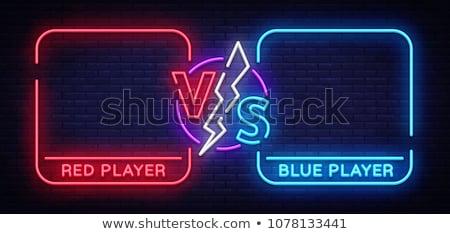 vs · brieven · banner · concurrerend · vector · roze - stockfoto © marysan