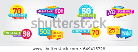 Summer Big Sale Banners Set Vector Illustration Stock photo © robuart