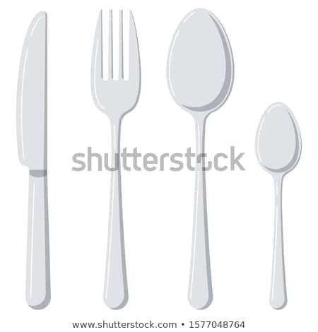 vector set of tableware Stok fotoğraf © olllikeballoon