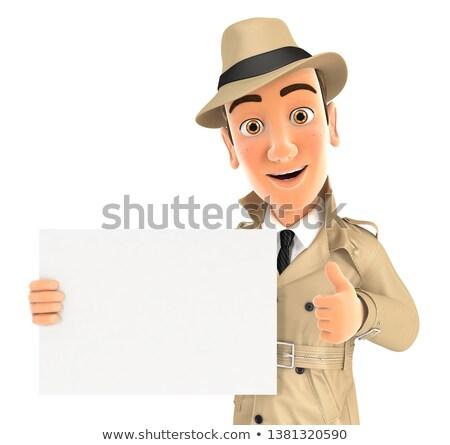 3D · policji · plakat · świadczonych · wysoki - zdjęcia stock © 3dmask
