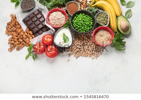 Produits riche fibre alimentation saine alimentaire haut Photo stock © furmanphoto