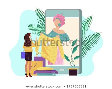 illustration of personal shopper Stock photo © adrenalina