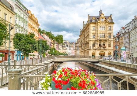 Tsjechische Republiek stad centrum heuvel landschap Stockfoto © borisb17